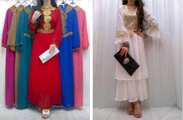 Jual Busana Muslim Gamis Cantik Bahan Sifon Galeri