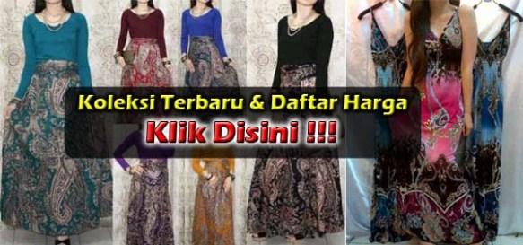 Maxi Dress Batik Kombinasi