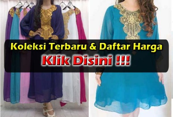 Gamis Maxi Dress Bordir Murah
