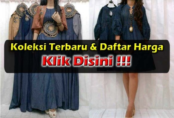 Maxi Dress Jeans Murah