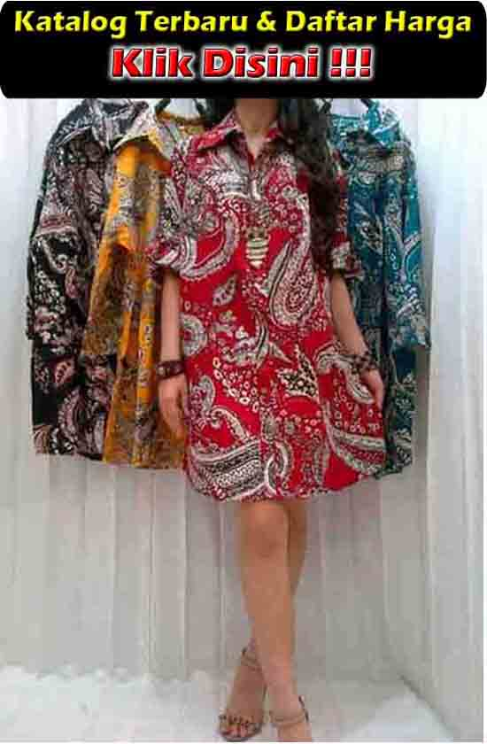 jual maxi dress batik trendy