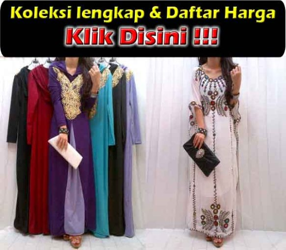 jual maxi dress bordir trendy