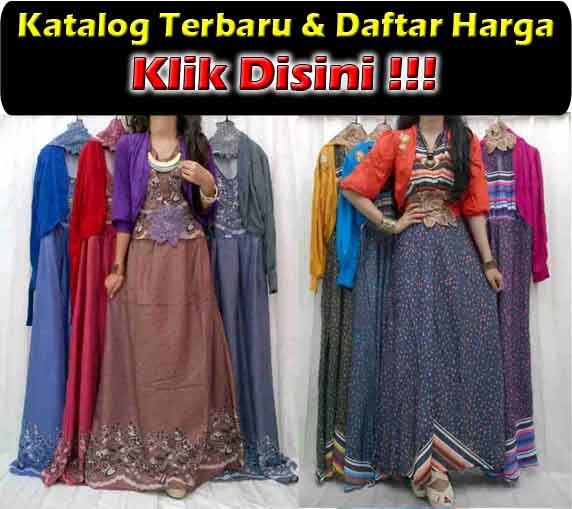jual maxi dress cardigan modern