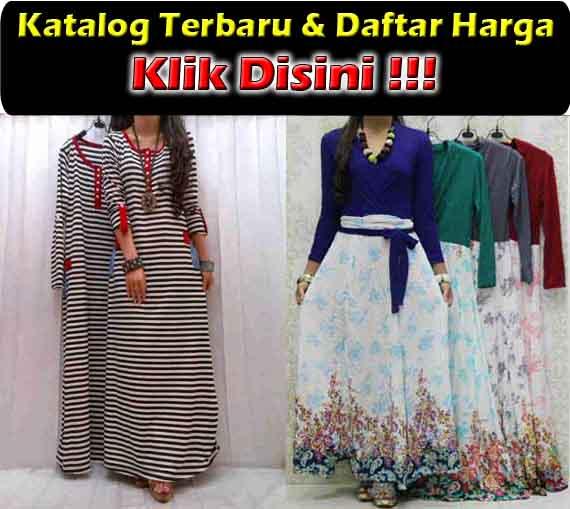 jual maxi dress trendy bahan kaos