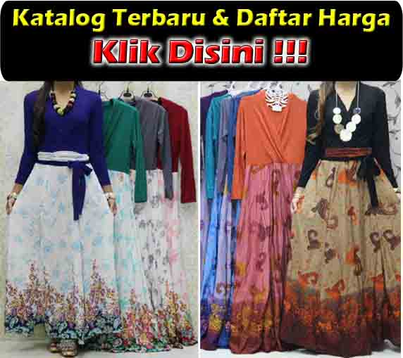 jual maxi dress trendy bahan katun