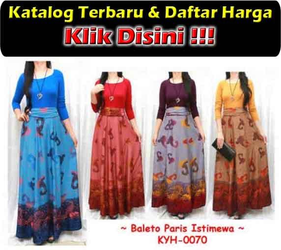 jual maxi dress trendy bahan spandek rayon
