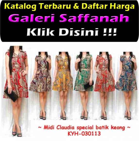 Jual Gamis Maxi Dress Midi Claudia Batik Keong